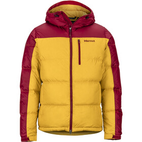 Marmot Guides Down Hoodie Men golden leaf/brick
